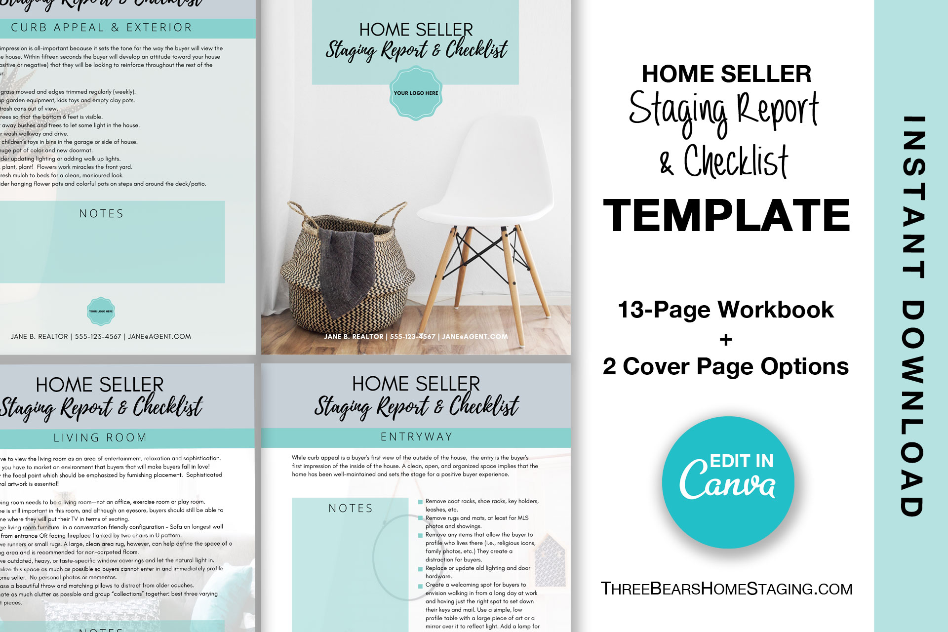 Home Staging Report And Checklist Workbook Template Three Bears Home Staging,Minimalist Computer Desk Design Ideas